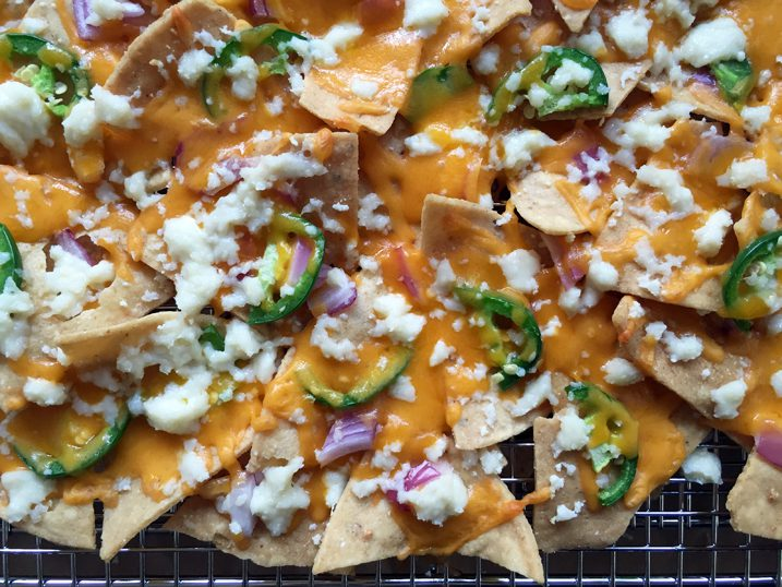 Alton Brown's Nachos for a Crowd Recipe