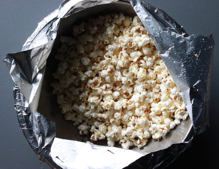 Perfectly Popped Popcorn in a bag.