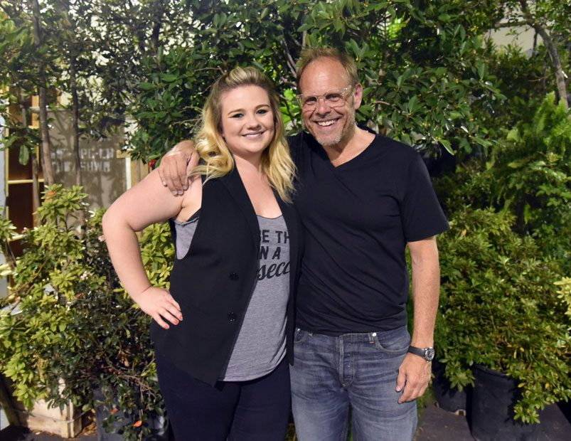 Alton Brown and Brynn Smith