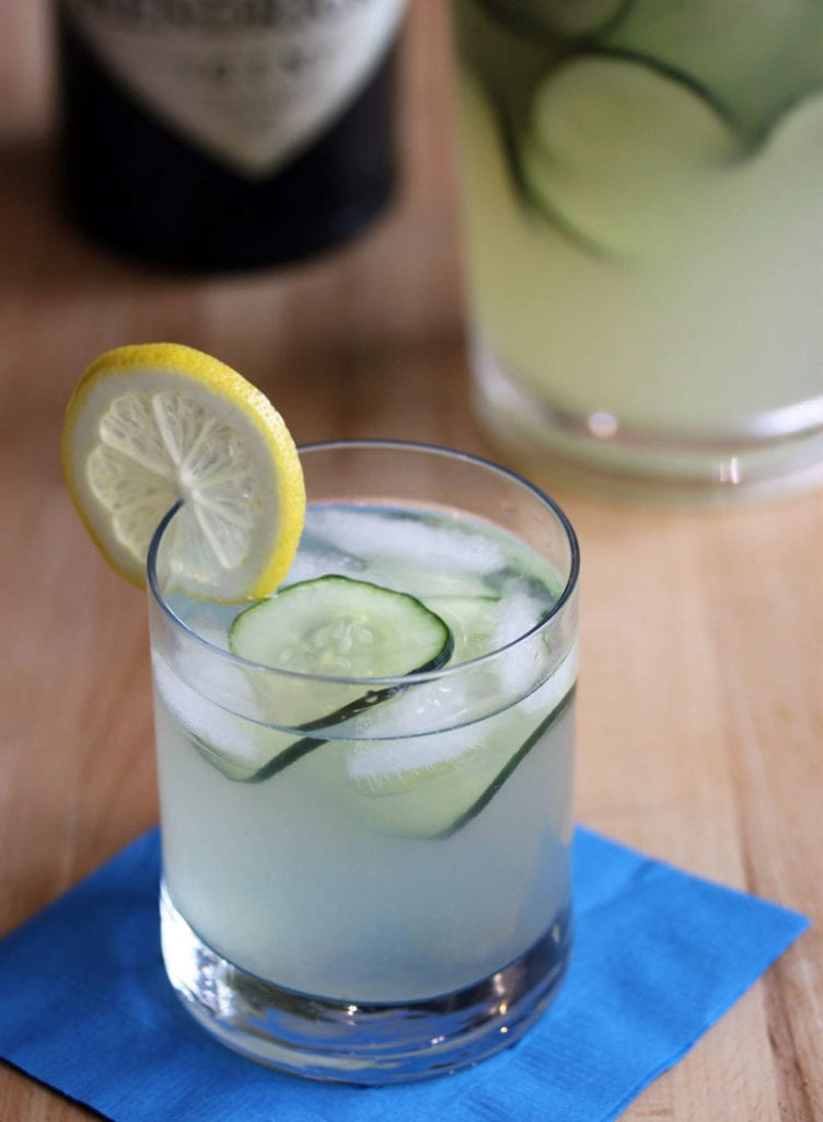 Alton Brown's Cucumber Lemonade Gin Punch Recipe