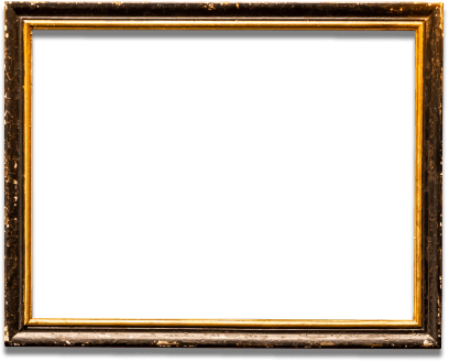 Horizontal bronze picture frame