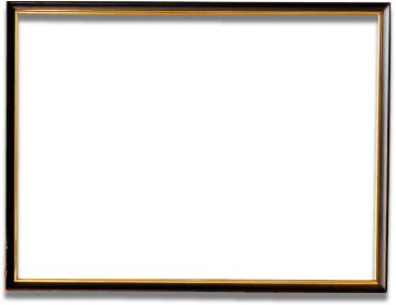 Horizontal black picture frame