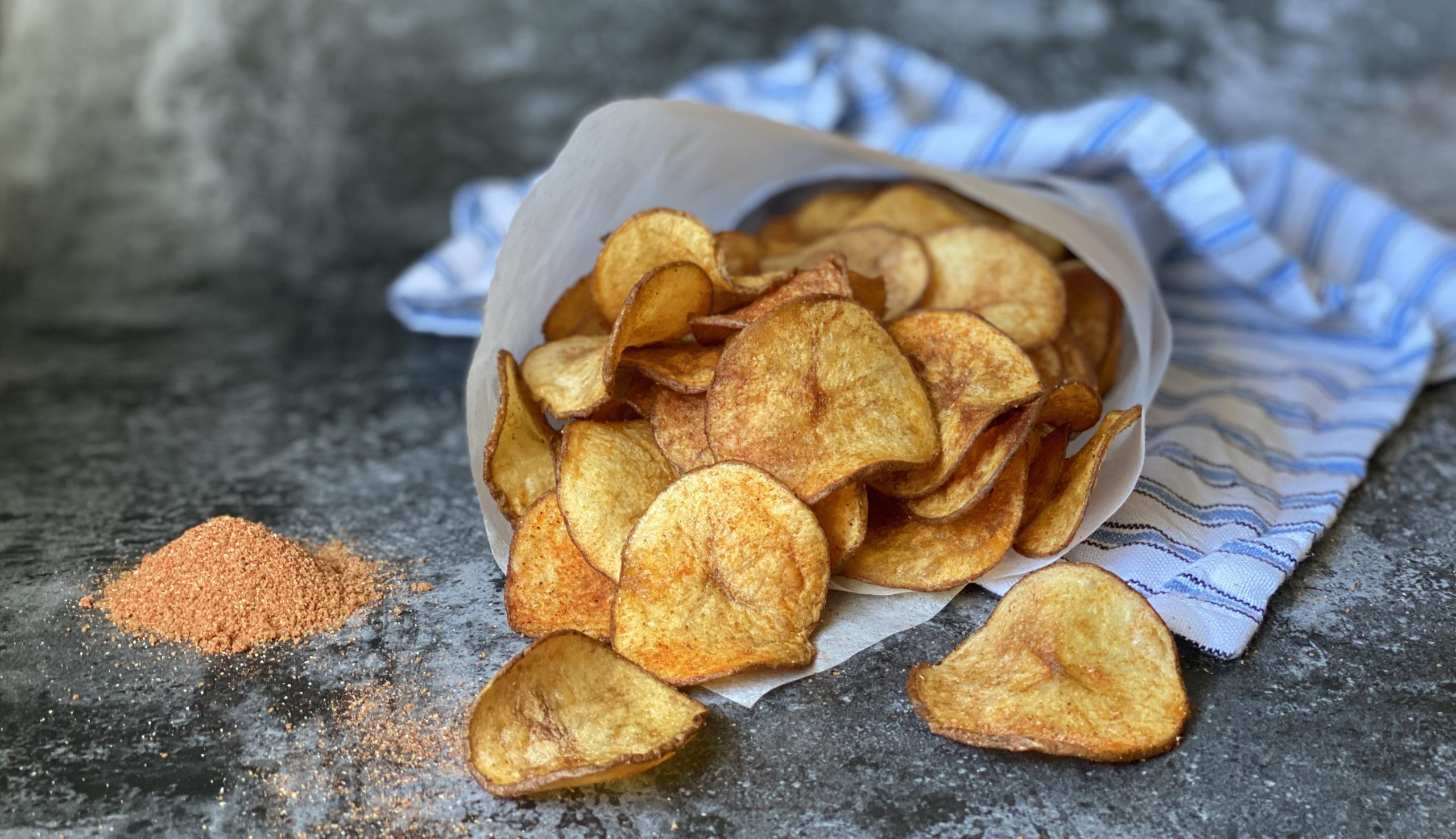 Smoked BBQ potato chips.
