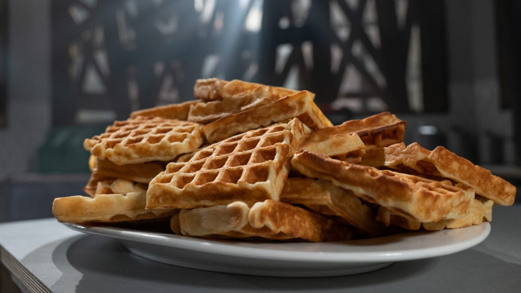 Sourdough Waffles from Good Eats The Return