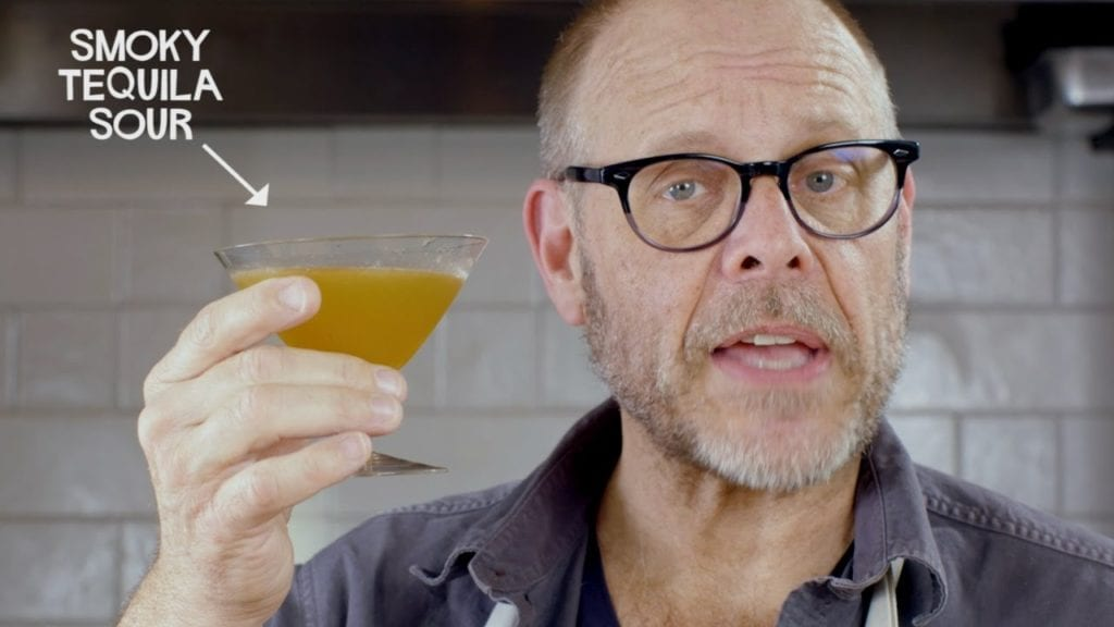 Alton Brown with Smoky Tequila Sour cocktail