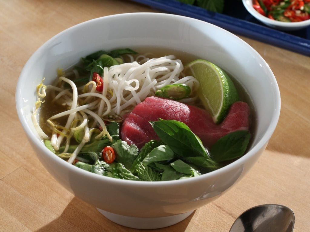 Pressure cooker beef pho from Good Eats Reloaded