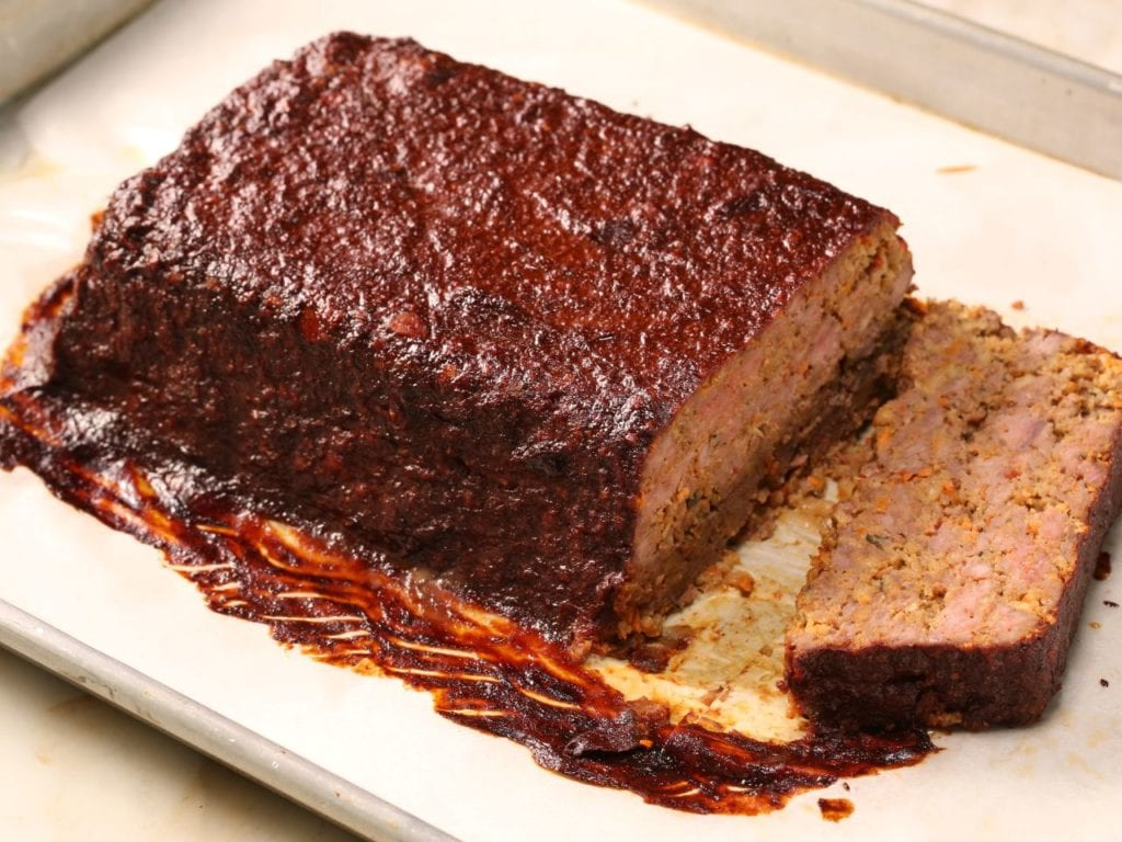 Good Eats Meatloaf Reloaded with Cocoa Glaze