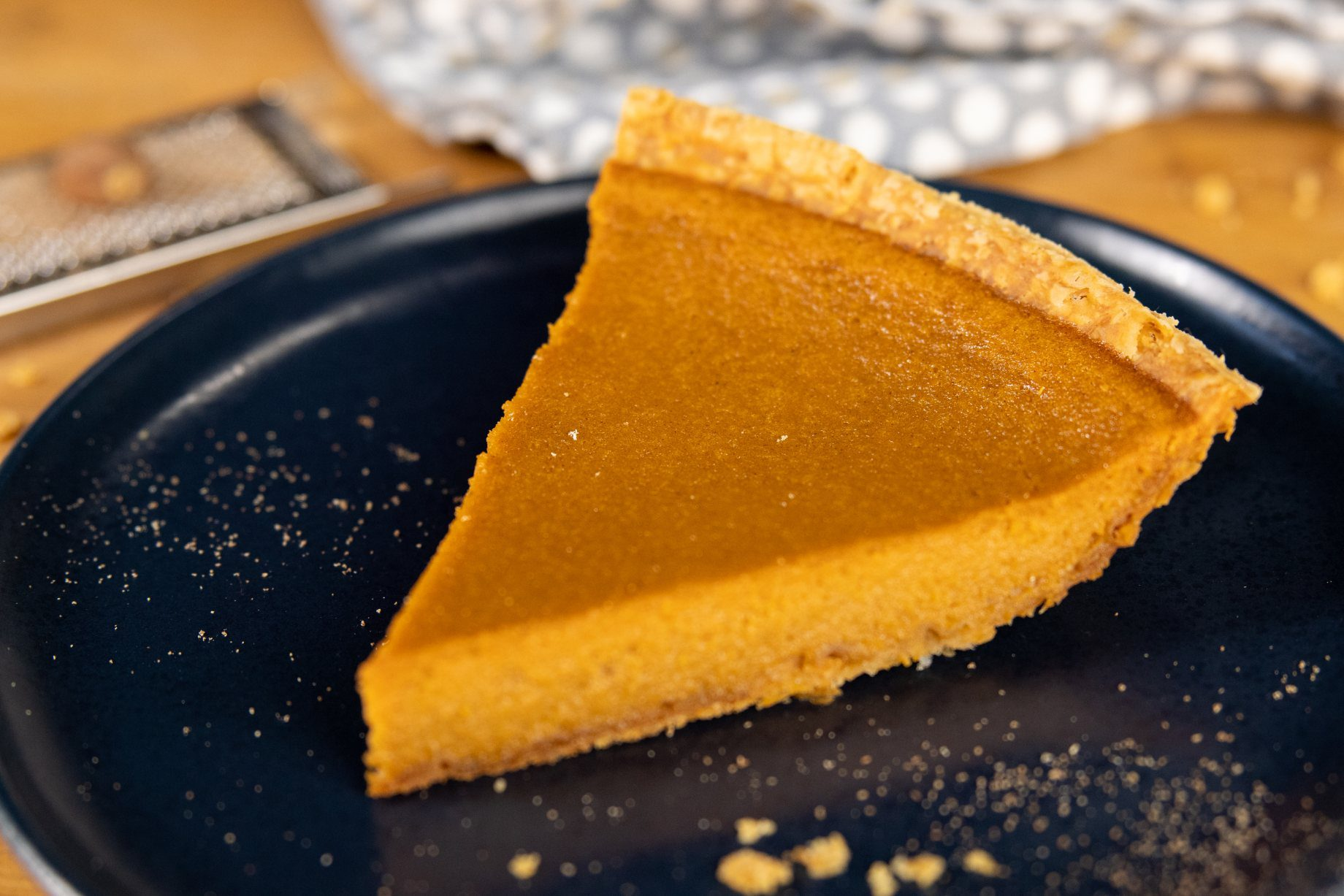 A slice of silky smooth sweet potato pie 2.0.