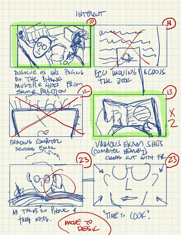 Alton Brown's storyboard illustration for a scene out of The House That Dripped Chocolate
