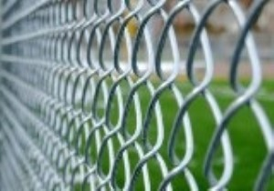 up-close aluminum fence